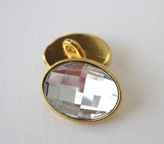 Vintage buttons swarovski crystal glass by bumbershootsupplies - Swarovski crystal buttons ...