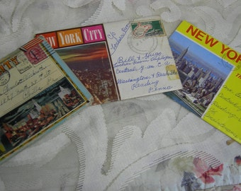 New York, New York - 3 Sets Souvenir Postcards 1927 to 1970 - New York City Then And Now