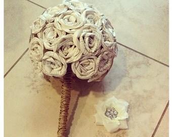 Rustic Round Romantic Paper Book Bouquet