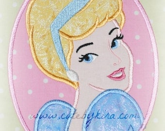 Cindergirl Princess Applique Embroidery Design