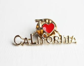 I Heart California Pin