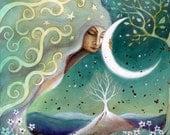 Earth and Moon art print by Amanda Clark