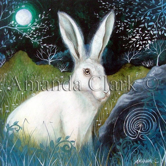 Art print titled 'Trackways'' from an original painting by Amanda Clark
