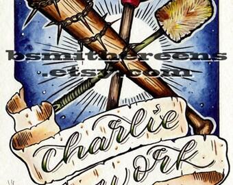 Charlie Work (5x7 signed print)
