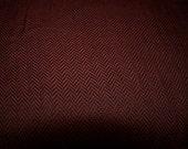 "Herringbone Fabric Rust with black Linework Lot of 4 Yards width 60"""