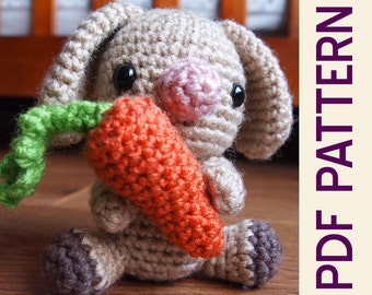 Amigurumi Woodland Easter Bunny Rabbit Forest Buddy Crochet Pattern pdf