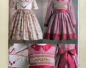 Sew An Heirloom Child's Dress - Vogue 7958 - Out-of-Print Sewing Pattern, Sizes 2, 3, and 4