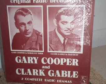 Vintage Clark Gable and Gary Cooper original radio broadcasts with