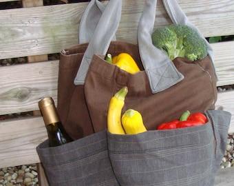 Eco Friendly, Washable, Sturdy, Market Bag with Pockets