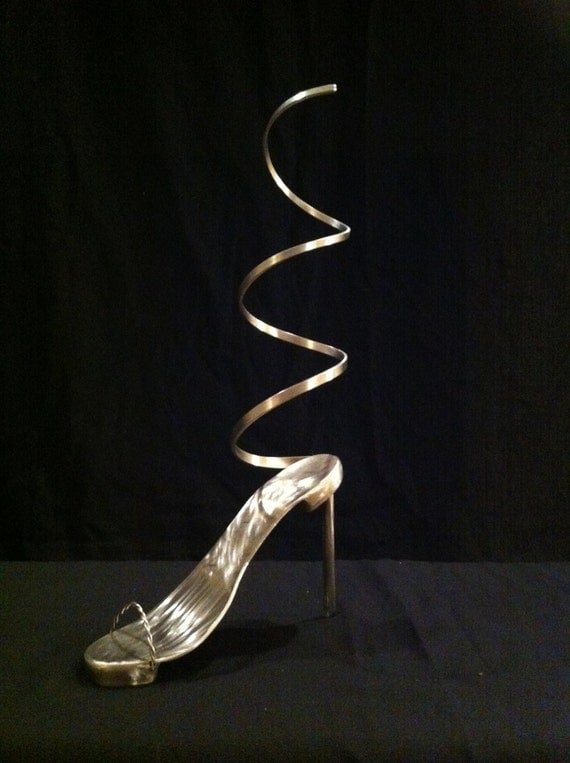 Stainless steel high heels 28 images the world s for Shoe sculpture ideas