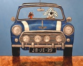 020 Mini Cooper - folded art card 15x15cm/6x6inch with envelope