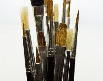 15 Piece Natural Bristle Brush Assortment