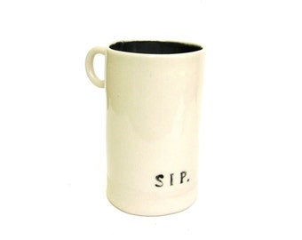 hand built porcelain cup  ...   sip
