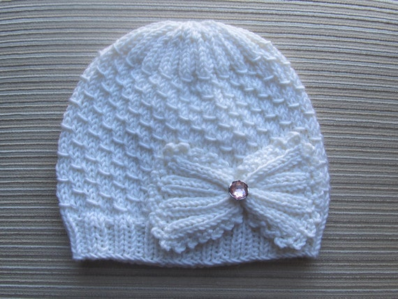 Instant Download Knitting Pattern # 98 Small Drops Stitch Hat for a Girl 12-18 months, 3-6 years