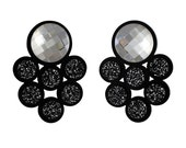 Galaxy perspex earrings clear Swarovski crystals