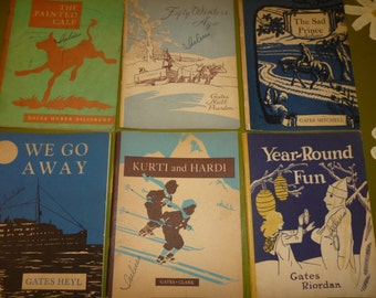 Set of 6 Vintage Elementary Readers, 1939-1940
