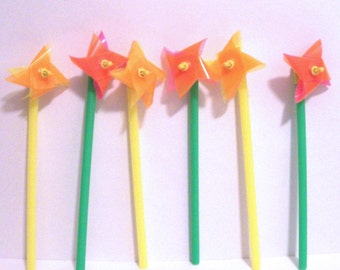 12 Pinwheel Cupcake Picks