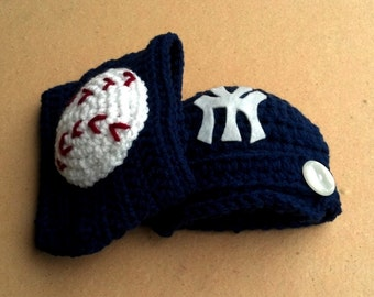 Baseball Newsboy Hat and Diaper Cover Set, Newborn Photo Prop, Baby Baseball Hat, Baby Sports Hat