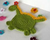 Crochet Dragon Pattern - Coaster, DIY