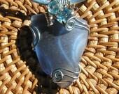Sea Glass Necklace ... beautiful blue
