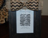Distressed Chevron Wooden Picture Frame