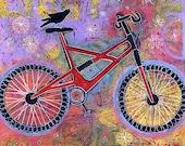 Raven Bike Gallery Wrap Canvas Print - Pure Delight