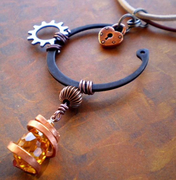 Lemon Drop Cubic Zirconia Retaining ring Industrial Necklace