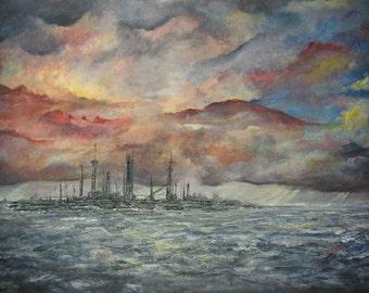 Chemical Peninsula - Original Acrylic Painting