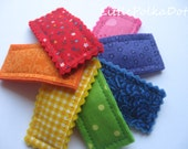 Colors of the RAINBOW, Girls hair snap clips, set of 7