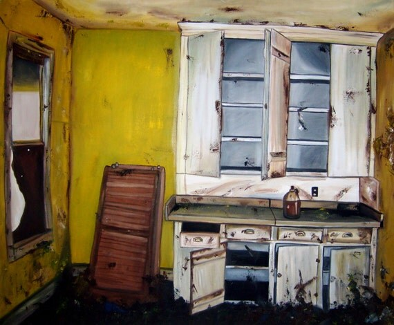 items similar to rustic yellow kitchen original oil