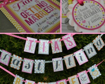 Bachelorette Party and Bridal Shower Decorations Fully Assembled