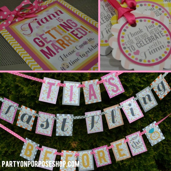 Bachelorette party and bridal shower decorations fully for Bachelorette party decoration packages