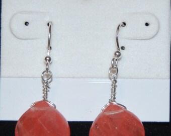 Cherry Quartz Briolette Earrings