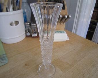 Diamond Cut Crystal Bud Vase