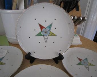 Lefton China Masonic Star Dish Set