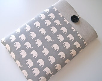 Laptop Case 14 inch,15.6 inch Custom Laptop, MacBook Pro and Ultrabook Sleeve Padded with Pocket - Gray Elephants