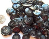 Black Splash Buttons - YOU PICK QUANTITY - 100 or 200 - See shop announcement for 60% off discount code - Shop Closing