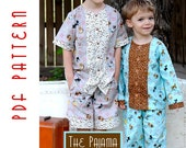 PDF Sewing Pattern: The Pajama Party PJs Infant - Toddler (Instant Download)