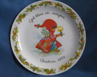 Vintage, 1972, Christmas, American Greetings, Collectible, Plate