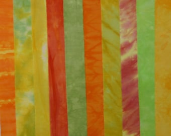 Hand Dyed Fabric CITRUS GROVE Stash Pack - 10 Fat Eighths