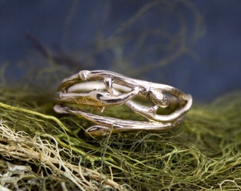 Woodland branch twig organic engagement ring, branch ring, organic wedding, natural engagement ring
