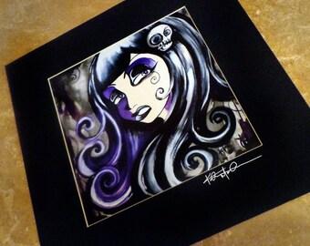 Goth Head  giclee  art print