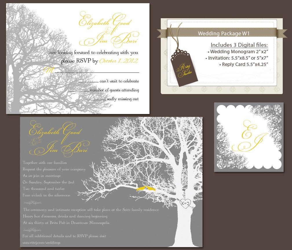 Digital wedding invitation package diy wedding invitations for Digital wedding invitations