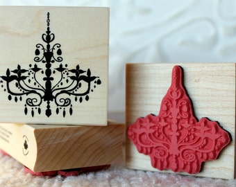 Chandelier rubber stamp from oldislandstamps
