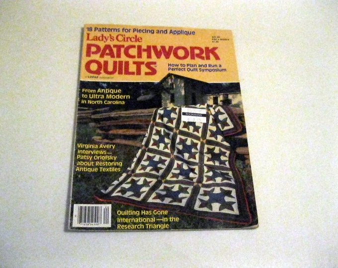 Vintage Sewing Magazine Lady's Circle Patchwork Quilts 1980 North Carolina Antique to Ultra Modern Quilts