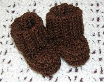 Chocolate brown booties