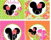 Digital Minnie Mouse Luau Party Printable, Minnie Mouse Luau Party  Decoration, Banner Add On and Hawaiian Lua Decoration INSTANT DONWLOAD