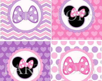 Digital Minnie Mouse Bow-tique Party Printable, Minnie Mouse  Party  Decoration, Banner Add On and Minnie's Bow-tique Party INSTANT DONWLOAD