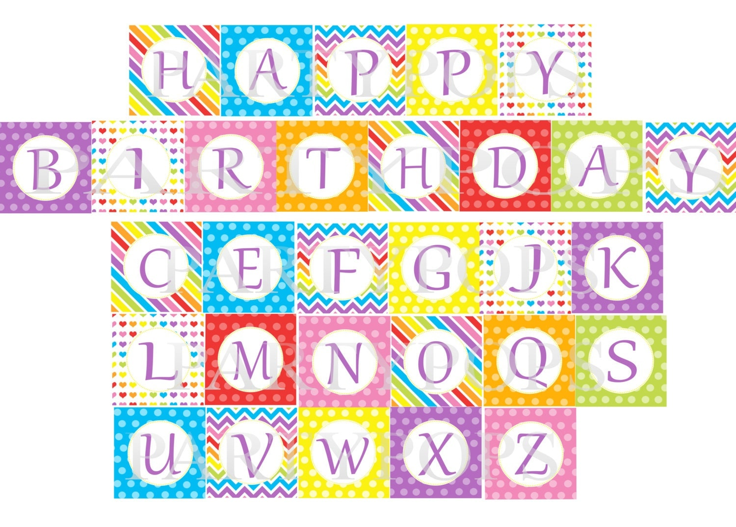 This is a graphic of Sweet Free Printable Happy Birthday Banner Letters