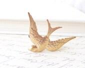 Golden Sparrow Hair Clip - Bird - Alligator Clip - Whimsy - Whimsical - Woodland - Bridal